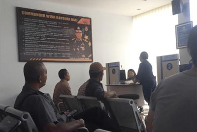 Proses perpanjang SIM di Poltabes Denpasar