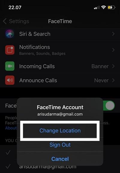 facetime tidak berfungsi pada iPhone